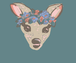 picture of deer with a flowercrown