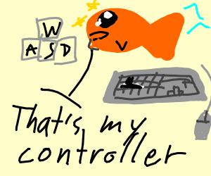 goldfish says WASD is his controller