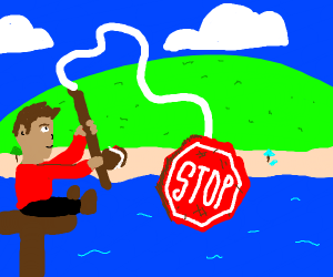 Fishing for a Stop Sign
