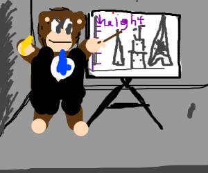 King Kong giving a Presentation