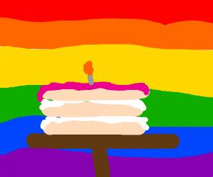 Happy Pride rainbow birthday