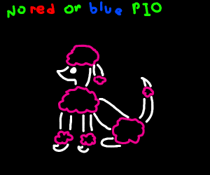 Don't use red or blue challenge (PIO)