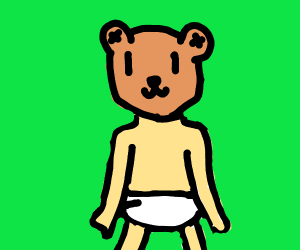 teddy bear with baby body