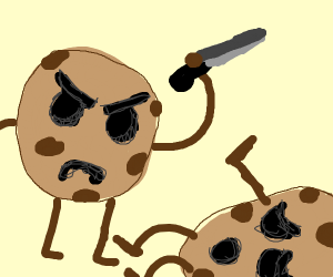 A cookie is about to kill another cookie