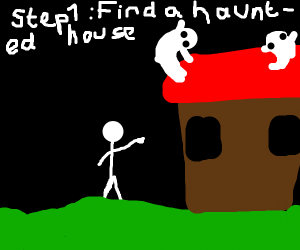how to make a haunted house your new home