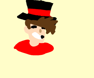 Smiling man in top hat
