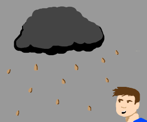 its raining almonds