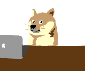 doge using trackpad :(