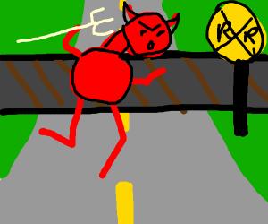 Devil crossing the Tracks