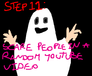 Step 10: become a spooky ghost!