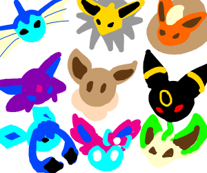 Eevee Evolution Squad (Try to fit them in)