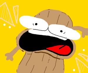 A surprised peanut
