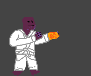 thanos does karate