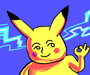 Pikachu with Lenny face