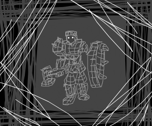 Wireframe gladiator