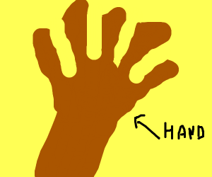 Black man's hand