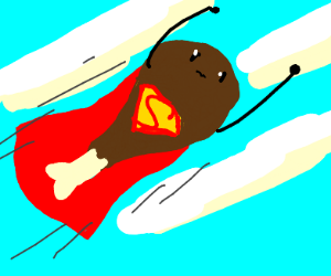 Superman as a drumstick