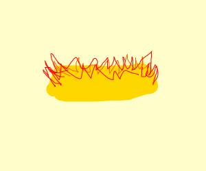 Twinkie on fire