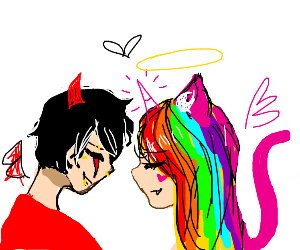 Edgy OC and Self-Insert Mary Sue Find Love
