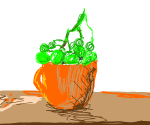 grapes in a cup