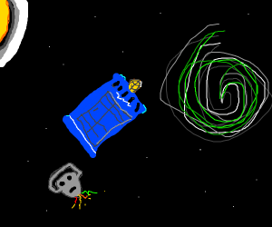 Dr. Who police box in space