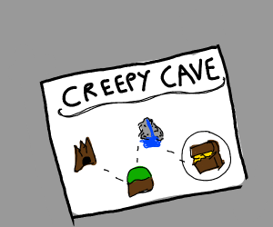 Complicated cave map