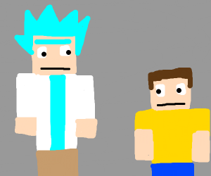 Minecraft Rick and Morty