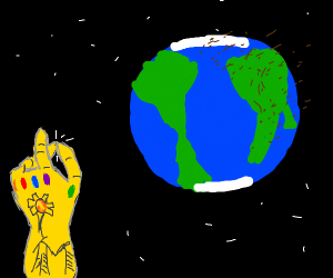 Thanos vs Earth