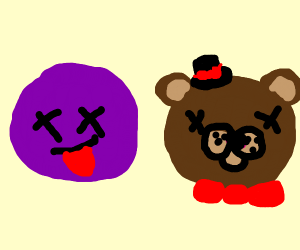 Purple Man and Freddy's disembodied head