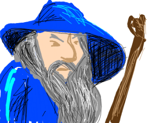 Gandalf the blue but just his head