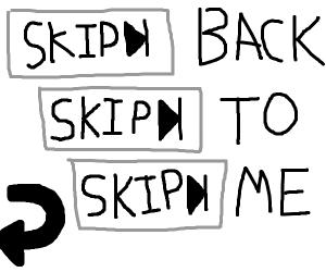 Reverse back to me, Skip turn 3x back to me