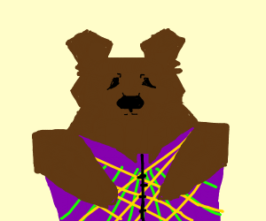 Bear in an asthetic frest