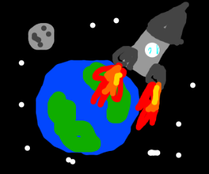flyng off to space