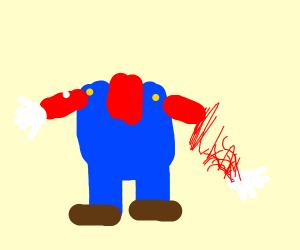 Mario lost his hand