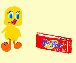 Tweety finds cherry hi chew