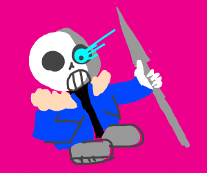 Sans and the other dude, lancer i think