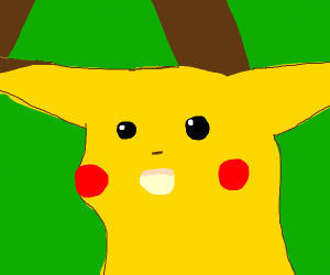 Pikachu meme.