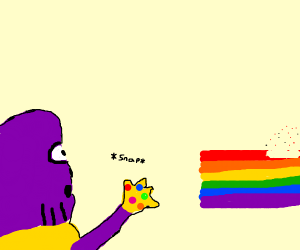 """Purple mans fright """"the gay pox"""""""