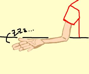 my hand, IS ASLEEP
