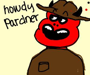 Red cowboy devil