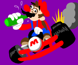 Mario is a drunk driver