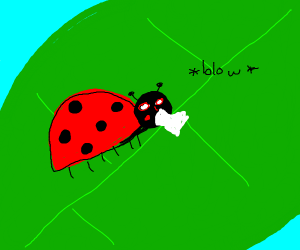 Ladybug blows its nose?