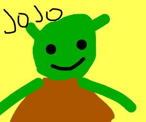 Shrek but as a JoJo reference