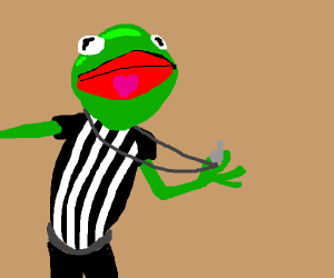 Kermit is a referee