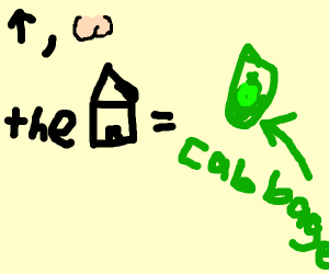 up but the house is cabbage