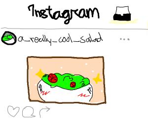 Instagram photo of salad