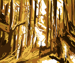 Wildfire engulfed the forest with golden rage