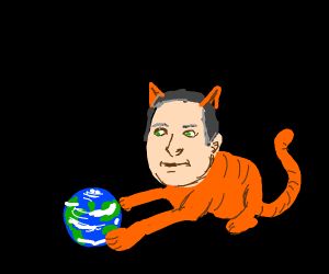 The World is a Toy in the Paws of Putin Cat