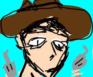 cowboy wielding 2 guns