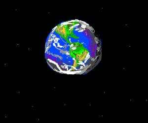 Earth alone in space